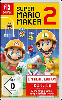 Neu Nintendo Switch Super Mario Maker 2 - Limited Edition 11561984
