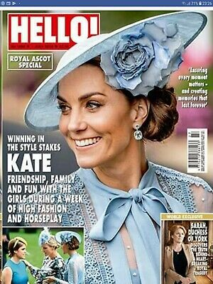 HELLO! Magazine Kate Middleton Ascot Special Royals cuttings clippings