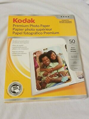 "Kodak Instant Dry Premium Photo Paper Gloss 8.5"" x 11"" 50 Sheets Sealed"