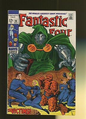 Fantastic Four 86 VF 7.5 * 1 Book Lot * The Victims by Stan Lee & Jack Kirby!