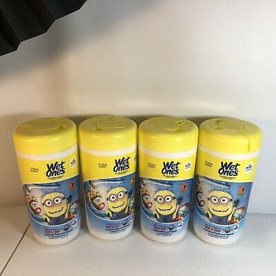 WET ONES Antibacterial Hands Wipes, Citrus 40 ea 4Pk. Dispicable Me Minions