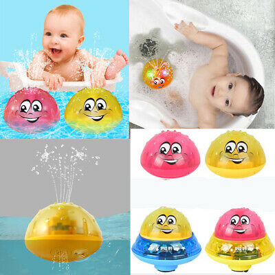 Infant Children Electric Induction Spray Ball Light Bathroom Play Water Bath Toy
