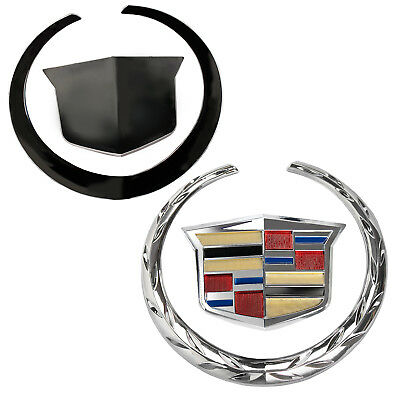 2 Cadillac STS Wreath /& Crest GOLD PLATED Roof Emblems!!