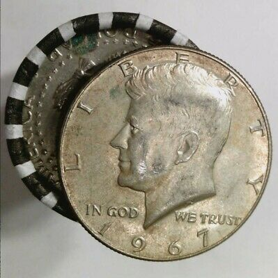 $10 UNSEARCHED HALVES ROLL + ONE 40% SILVER Kennedy + Bonus 90% Silver with 5+!