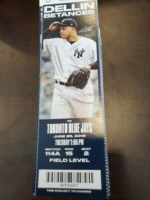 MLB HR Record - New York Yankees Blue Jays MINT Season Ticket 6/25/19 2019 Stub