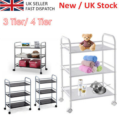 3 Shelf Large Salon Beauty Trolley Cart Spa Storage Dentist Wax Treatments UK