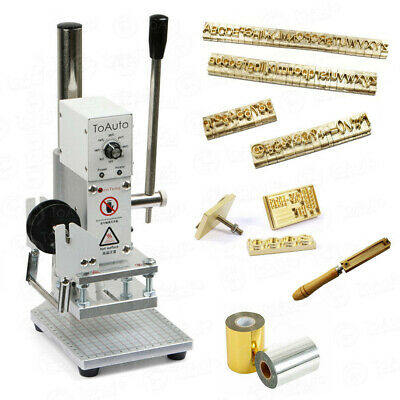 Hot Foil Stamping Machine Leather Logo Bronzing Print Brass Mold Letters Numbers