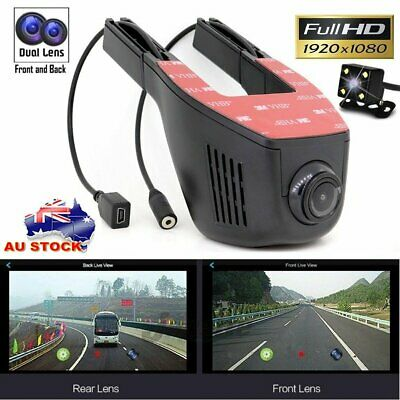 1080P HD WIFI Car Hidden Camera Dash Cam Dual Lens DVR G-Sensor Video Recorder