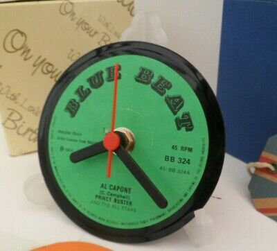 *new* PRINCE BUSTER & ALL STARS VINYL RECORD CLOCK - Desk / Table Top + Stand