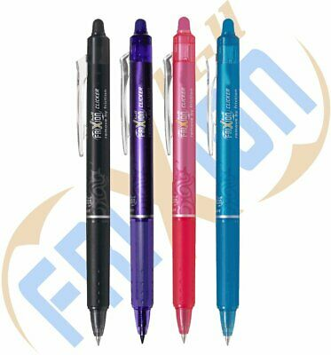 Pilot FriXion Ball Clicker 07 Rollerball Set of 4/Available in Various Colours
