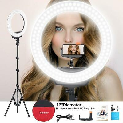 "16"" LED Studio Ring Light Dimmable Light Photo Video Lamp Kit For Camera Shoot"