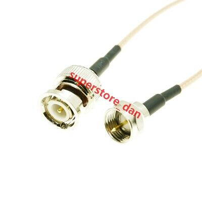 F-type Male to BNC Male 50-Ohm RG316 Coax Low Loss Jumper pigtail RF Cable