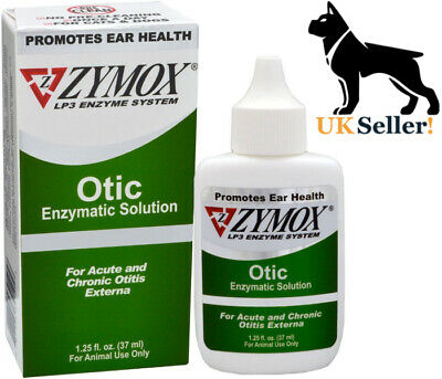Zymox Otic NO HC Pet Ear Treatment Solution Cats and Dogs Otitis externa