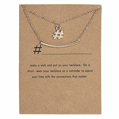 Lovely Gold Sign Pendant Necklace Clavicle Chains Womens Jewellery Party Gift