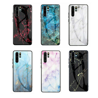 For iPhone XS MAX XR X 10 7 8 Plus 6 6s Fashion Marble Tempered Glass Case Cover