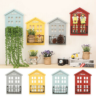 New Wall Mounted Key Holder Mail Letter Holder Wooden Key Rack Organizer LO