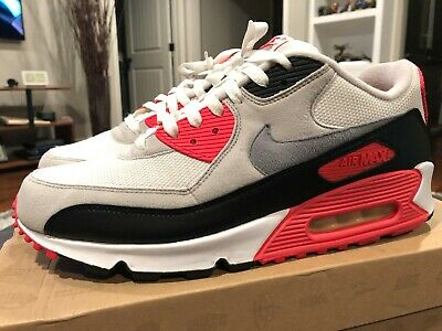 Nike Air Max 90 Hyperfuse Infrared In WhiteCement Grey