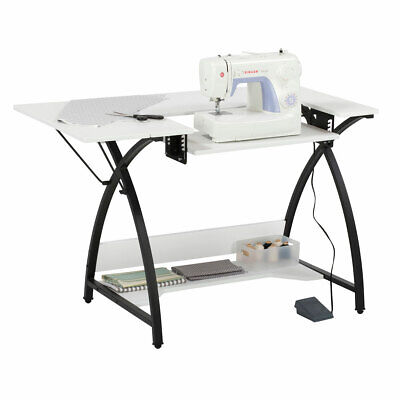 Comet Sewing Table 45.5 x 23.5 x 30in Black/White | Sew Ready 13332