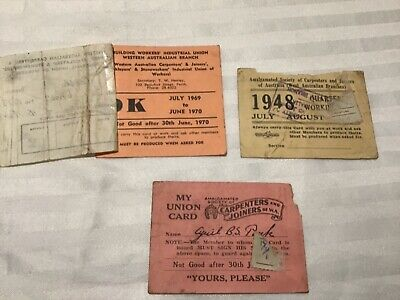 Vintage Workers Union Cards