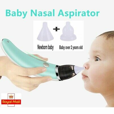 Electric Baby Silicone Nasal Aspirator Vacuum Sucker Nose Mucus Snot Cleaner UK