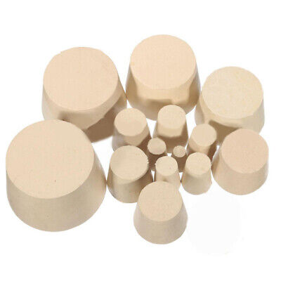 15 Sizes Solid Rubber Stopper Bungs Laboratory for test tube flask stopper