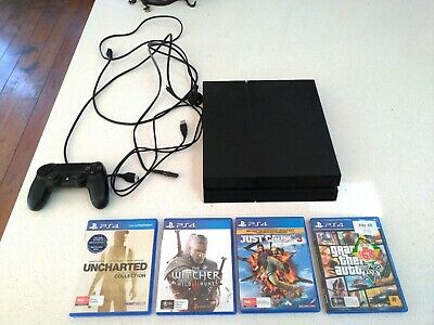 PlayStation 4/PS4 console, 1tb version + 4 games