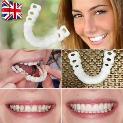 1 Pair Perfect Smile Teeth Cosmetic Veneers Comfort Tooth Covers Fix Silicone UK