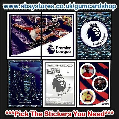 Panini Tabloid Premier League (1 to 60) *Select the Stickers You Need*
