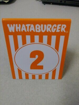 #2 WHATABURGER Table Tent Number..Money will be used to pay student loans
