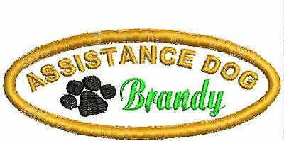 Assistance Dog Patch, Service Animal Patches, Harness Patch personalized, ESA,