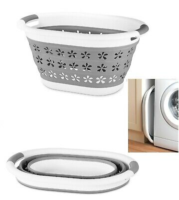 Large Collapsible Laundry Basket Washing Clothes Bin Foldable Space Saving New