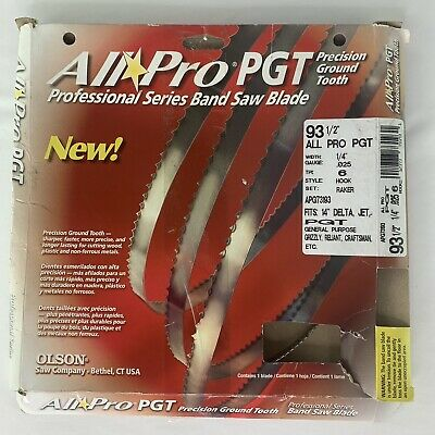 "Olson #APG73193 93-1/2"" x 1/4"" x 6 TPI All Pro Band-Saw Blade"