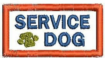 Service Dog Patch, Small Service dog Patch for Harness, Vests, ESA Patches,