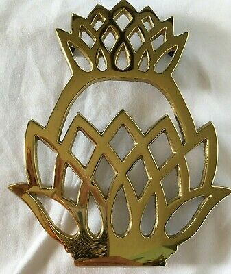 Pineapple Trivet Brass /Virginia Metalcrafters Williamsburg Pineapple New In Box