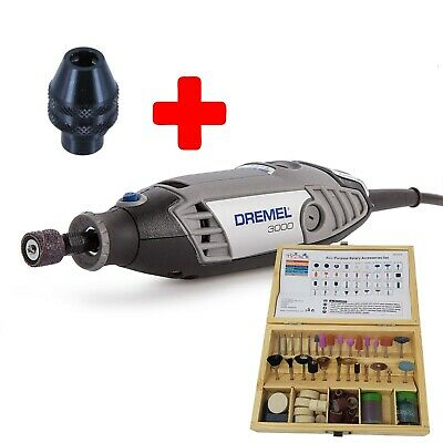 Dremel 3000 Hobby Rotary Tool Unit Only by tyzacktools + Multi Chuck + 100pc Set