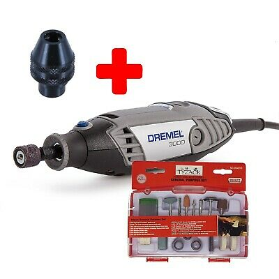 Dremel 3000 Hobby Rotary Tool Unit Only + Multi Chuck + 52pc General Purpose Set