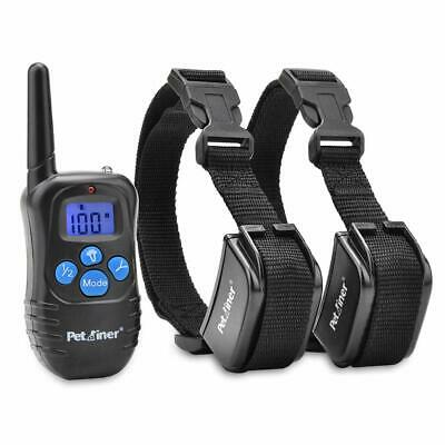 Rechargeable Dog Shock Collar Remote Training Beep Vibration 1000ft  Range NEW
