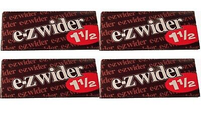 4 PACKS E Z Wider 1.5 Rolling Papers 1 1/2  - USA Shipped