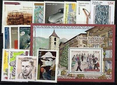 ANDORRE: ANNEE COMPLETE 2015 DE 14 TIMBRES NEUF** N°763/776 Cote: 61,80 €