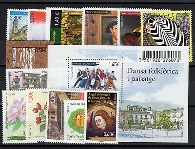 ANDORRE: ANNEE COMPLETE 2011 DE 14 TIMBRES NEUF** N°704/717 Cote: 49,00 €