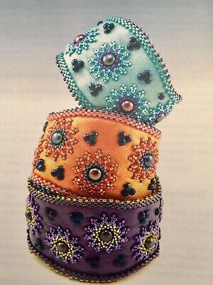 Star Flower Beaded Leather Cuff Bracelet Kit~by Laura McCabe~Just Let Me Bead