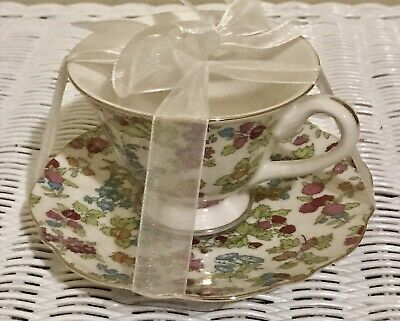 New Grace's Teaware  Victorian  Flowers Porcelain Tea Cup & Saucer Set