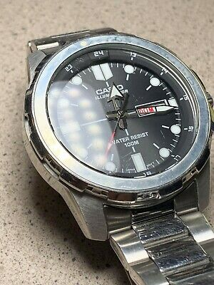 Casio Mtd1079D-1Awc Men's Stainless Steel Illuminator Day/Date Watch (Pre-Owned