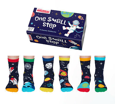United Oddsocks Sock Puppet Socks Six Odd Socks For Girls Uk Size 9 - 12