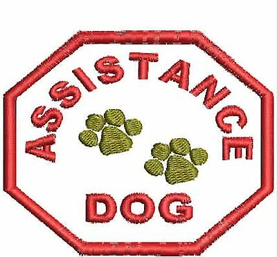 Assistance Dog Patch, Service Dog Patch ESA, Therapy Dog, Octagon Shaped Harness