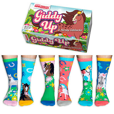 United Oddsocks Be Flamazing Six Flamingo Odd Socks For Girl Uk Size 12 - 5.5