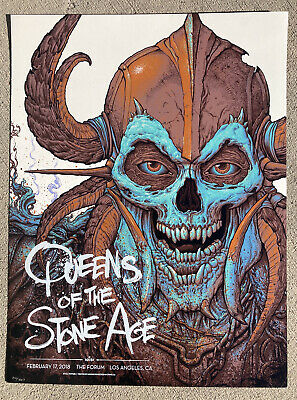 QUEENS OF THE STONE AGE 2018 Forum - Los Angeles Concert / Gig Poster NC Winters