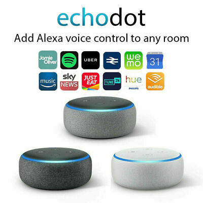 NEW Amazon Echo Dot 3rd Generation Smart speaker with Alexa - Black/Grey/White