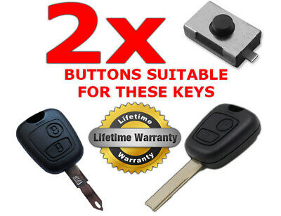 2 x REPLACEMENT KEY FOB BUTTONS CITROEN C1 C2 C3 C4 XSARA PICASSO BERLINGO SAXO