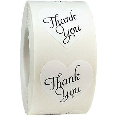 500pcs/roll thank you Stickers seal labels scrapbooking stickers for Package JCA